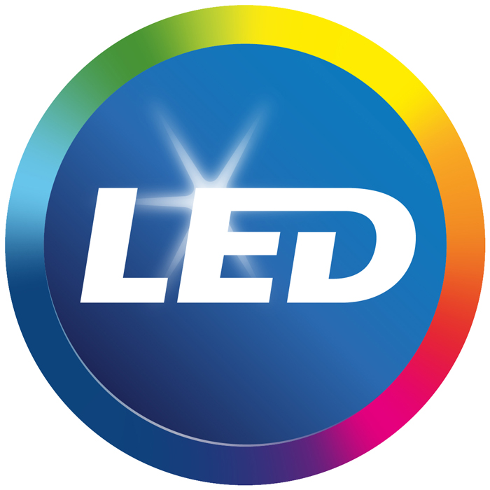 El logotipo LED